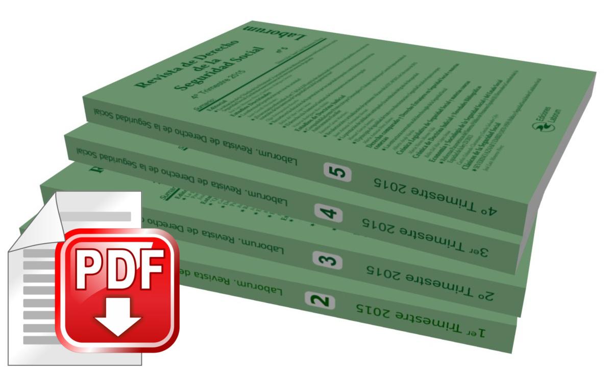 """Suscripción anual """"Revista de Derecho de la Seguridad Social"""" en formato Digital"""