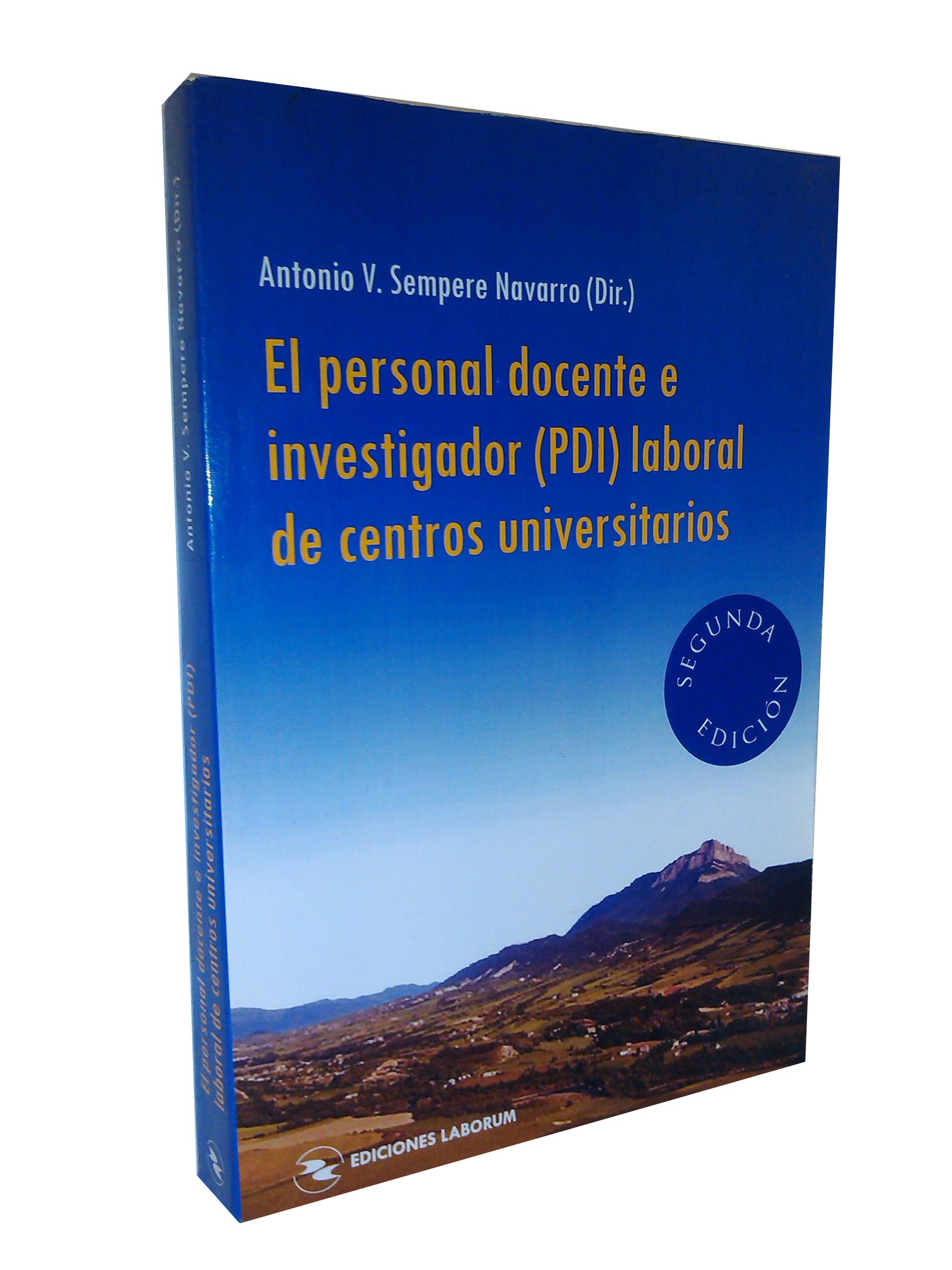 El personal docente e investigador (PDI) laboral de centros universitarios (2ª edición)